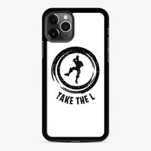 Load image into Gallery viewer, Take The L Fortnite 4 iPhone 11 Pro Case, Black Rubber Case