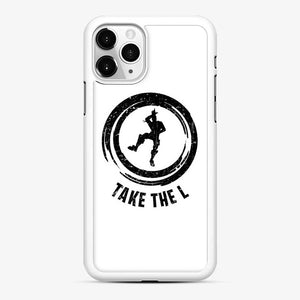 Take The L Fortnite 4 iPhone 11 Pro Case, White Rubber Case
