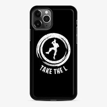 Load image into Gallery viewer, Take The L Fortnite 5 iPhone 11 Pro Case, Black Rubber Case