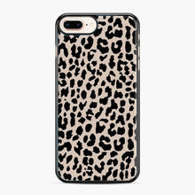 Load image into Gallery viewer, Tan Leopard Pattern iPhone 7 Plus/8 Plus Case, Black Plastic Case | Webluence.com
