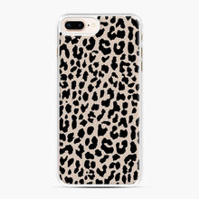 Load image into Gallery viewer, Tan Leopard Pattern iPhone 7 Plus/8 Plus Case, White Plastic Case | Webluence.com