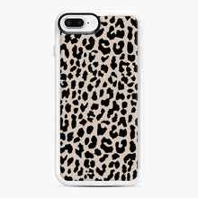 Load image into Gallery viewer, Tan Leopard Pattern iPhone 7 Plus/8 Plus Case, White Rubber Case | Webluence.com