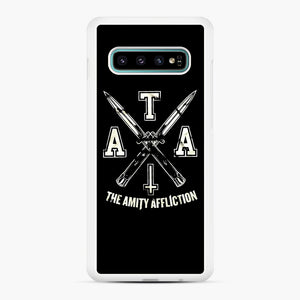 The Amity Affliction TAA Samsung Galaxy S10 Plus Case, White Rubber Case | Webluence.com
