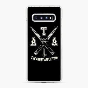 The Amity Affliction TAA Samsung Galaxy S10 Plus Case, White Plastic Case | Webluence.com