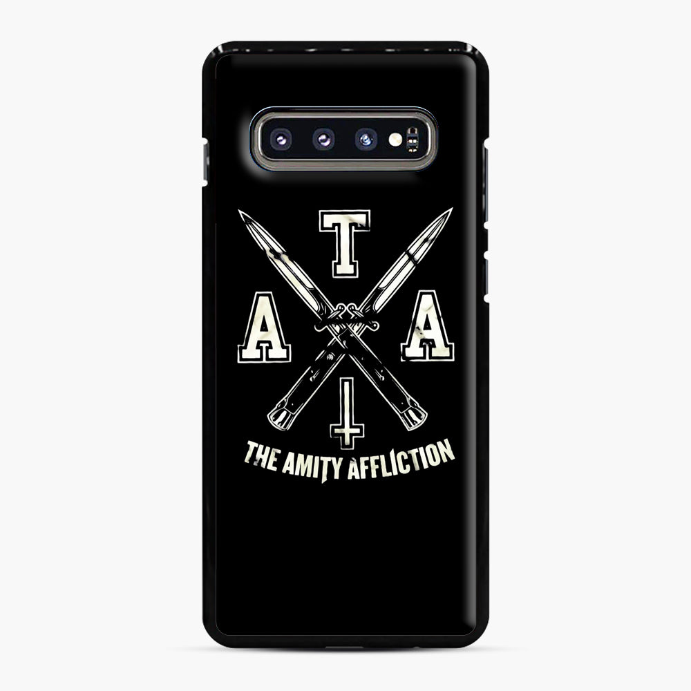 The Amity Affliction TAA Samsung Galaxy S10 Plus Case, Black Plastic Case | Webluence.com