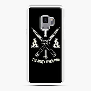 The Amity Affliction TAA Samsung Galaxy S9 Case, White Plastic Case | Webluence.com