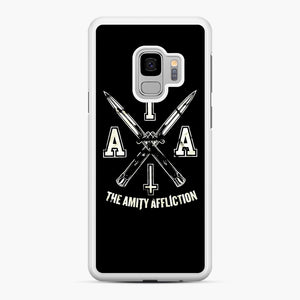 The Amity Affliction TAA Samsung Galaxy S9 Case, White Rubber Case | Webluence.com
