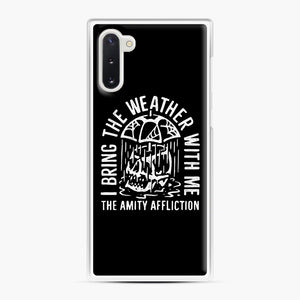 The Amity Affliction The Amity Affliction Samsung Galaxy Note 10 Case, White Plastic Case | Webluence.com