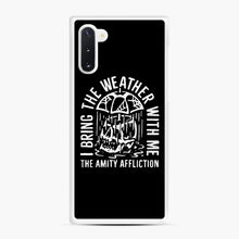 Load image into Gallery viewer, The Amity Affliction The Amity Affliction Samsung Galaxy Note 10 Case, White Rubber Case | Webluence.com