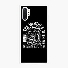 Load image into Gallery viewer, The Amity Affliction The Amity Affliction Samsung Galaxy Note 10 Plus Case, White Rubber Case | Webluence.com
