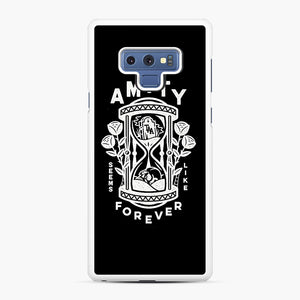 The Amity Affliction Throw Square Samsung Galaxy Note 9 Case, White Rubber Case | Webluence.com