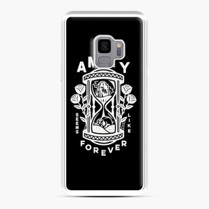 The Amity Affliction Throw Square Samsung Galaxy S9 Case, White Plastic Case | Webluence.com