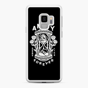 The Amity Affliction Throw Square Samsung Galaxy S9 Case, White Rubber Case | Webluence.com
