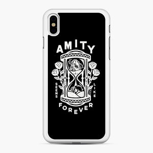 The Amity Affliction Throw Square iPhone XS Max Case, White Rubber Case | Webluence.com