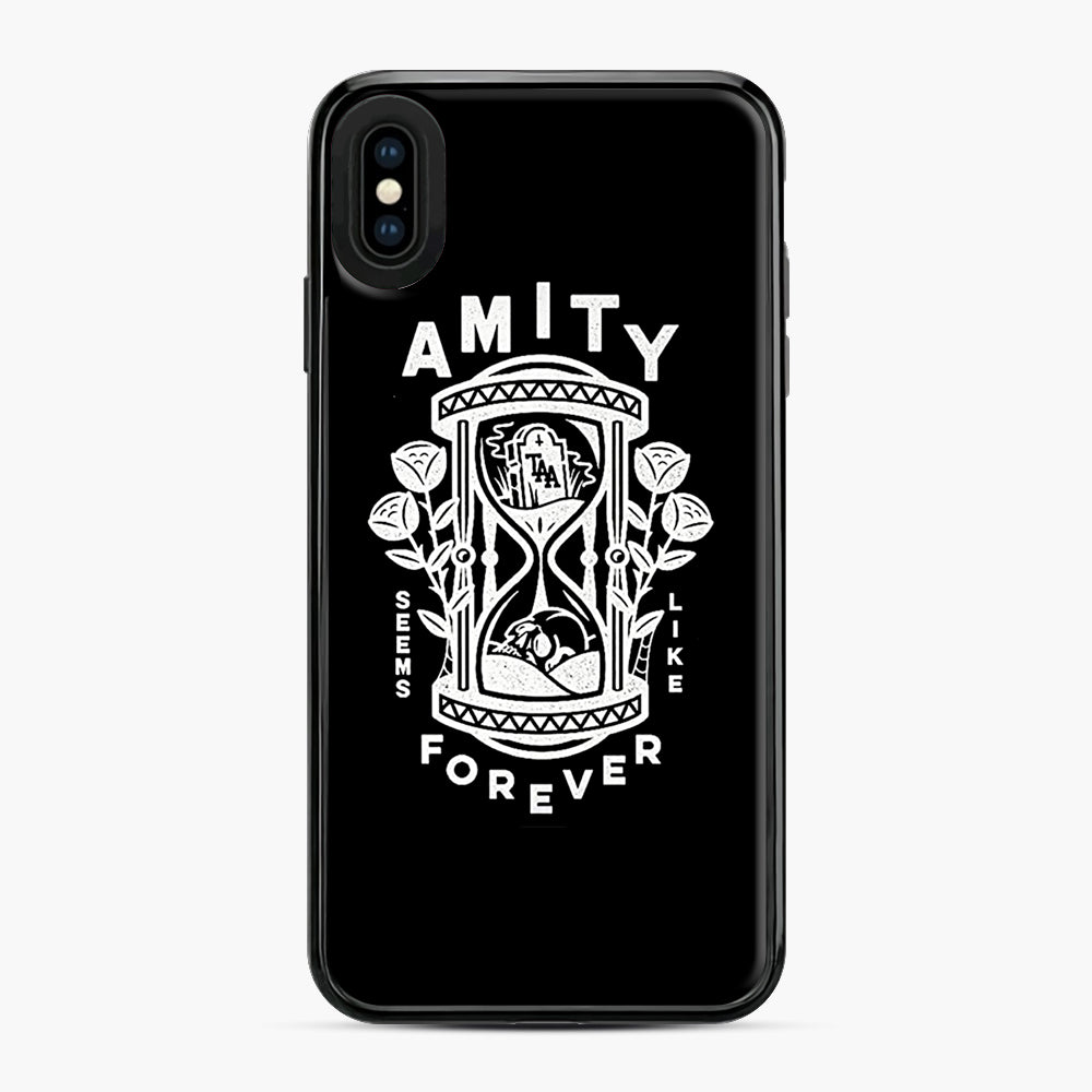 The Amity Affliction Throw Square iPhone XS Max Case, Black Plastic Case | Webluence.com