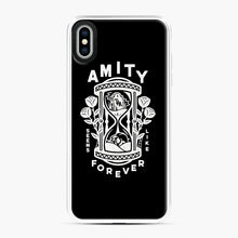 Load image into Gallery viewer, The Amity Affliction Throw Square iPhone XS Max Case, White Plastic Case | Webluence.com