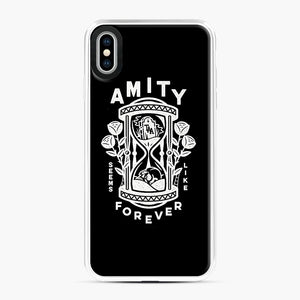The Amity Affliction Throw Square iPhone XS Max Case, White Plastic Case | Webluence.com
