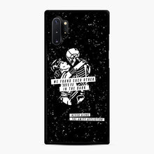 Load image into Gallery viewer, The Amity Affliction We Found Each Other in The Dark Samsung Galaxy Note 10 Plus Case, Black Rubber Case | Webluence.com