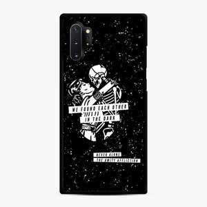 The Amity Affliction We Found Each Other in The Dark Samsung Galaxy Note 10 Plus Case, Black Rubber Case | Webluence.com