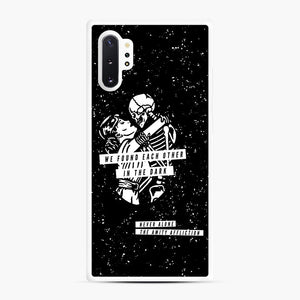 The Amity Affliction We Found Each Other in The Dark Samsung Galaxy Note 10 Plus Case, White Rubber Case | Webluence.com