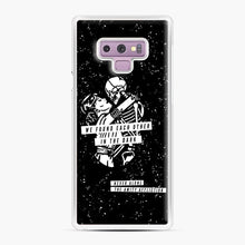 Load image into Gallery viewer, The Amity Affliction We Found Each Other in The Dark Samsung Galaxy Note 9 Case, White Plastic Case | Webluence.com
