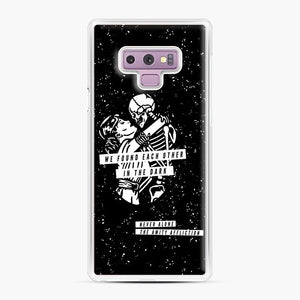 The Amity Affliction We Found Each Other in The Dark Samsung Galaxy Note 9 Case, White Plastic Case | Webluence.com