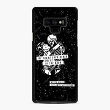 Load image into Gallery viewer, The Amity Affliction We Found Each Other in The Dark Samsung Galaxy Note 9 Case, Black Rubber Case | Webluence.com
