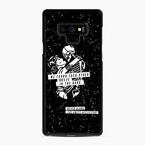 The Amity Affliction We Found Each Other in The Dark Samsung Galaxy Note 9 Case, Black Rubber Case | Webluence.com