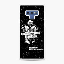 Load image into Gallery viewer, The Amity Affliction We Found Each Other in The Dark Samsung Galaxy Note 9 Case, White Rubber Case | Webluence.com