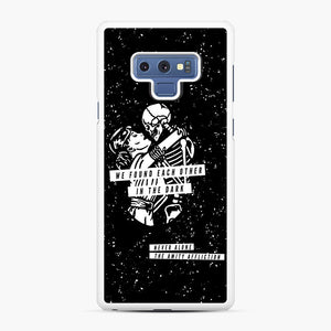 The Amity Affliction We Found Each Other in The Dark Samsung Galaxy Note 9 Case, White Rubber Case | Webluence.com