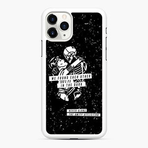 The Amity Affliction We Found Each Other in The Dark iPhone 11 Pro Case, White Rubber Case | Webluence.com