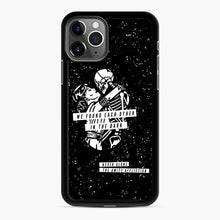 Load image into Gallery viewer, The Amity Affliction We Found Each Other in The Dark iPhone 11 Pro Case, Black Rubber Case | Webluence.com