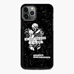 The Amity Affliction We Found Each Other in The Dark iPhone 11 Pro Case, Black Rubber Case | Webluence.com