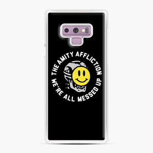 The Amity Affliction We're All Messed Up Samsung Galaxy Note 9 Case, White Plastic Case | Webluence.com