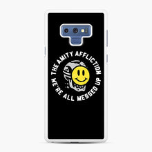 Load image into Gallery viewer, The Amity Affliction We're All Messed Up Samsung Galaxy Note 9 Case, White Rubber Case | Webluence.com