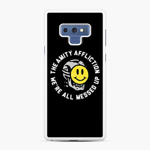 The Amity Affliction We're All Messed Up Samsung Galaxy Note 9 Case, White Rubber Case | Webluence.com