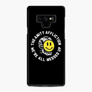 The Amity Affliction We're All Messed Up Samsung Galaxy Note 9 Case, Black Rubber Case | Webluence.com