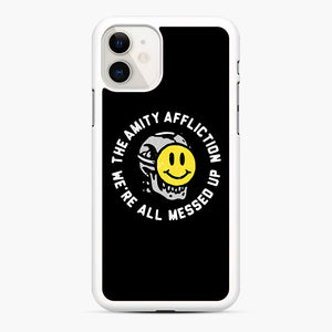 The Amity Affliction We're All Messed Up iPhone 11 Case, White Rubber Case | Webluence.com