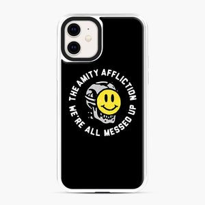 The Amity Affliction We're All Messed Up iPhone 11 Case, White Plastic Case | Webluence.com