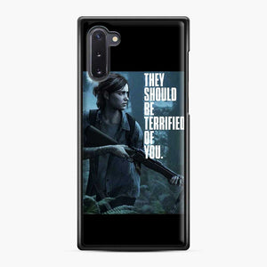 The Last Of Us 2 Part Ii Ellie Terrified Of You Samsung Galaxy Note 10 Case, Black Plastic Case