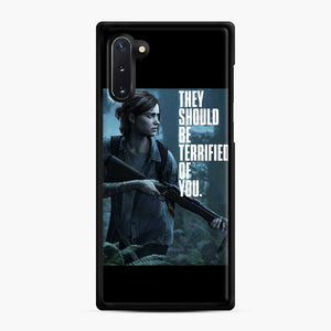 The Last Of Us 2 Part Ii Ellie Terrified Of You Samsung Galaxy Note 10 Case, Black Rubber Case