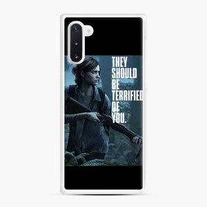 The Last Of Us 2 Part Ii Ellie Terrified Of You Samsung Galaxy Note 10 Case, White Rubber Case
