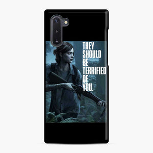 The Last Of Us 2 Part Ii Ellie Terrified Of You Samsung Galaxy Note 10 Case, Snap Case