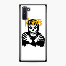 Load image into Gallery viewer, The Misfits Skull Yellow Logo Casual Samsung Galaxy Note 10 Case, Black Plastic Case | Webluence.com