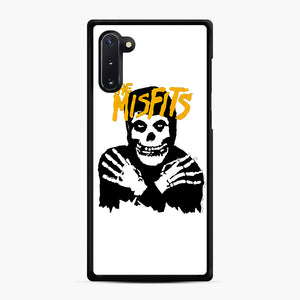 The Misfits Skull Yellow Logo Casual Samsung Galaxy Note 10 Case, Black Rubber Case | Webluence.com