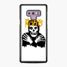 Load image into Gallery viewer, The Misfits Skull Yellow Logo Casual Samsung Galaxy Note 9 Case, Black Plastic Case | Webluence.com