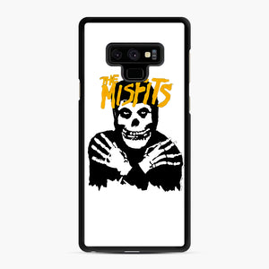 The Misfits Skull Yellow Logo Casual Samsung Galaxy Note 9 Case, Black Rubber Case | Webluence.com