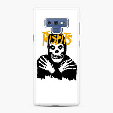 Load image into Gallery viewer, The Misfits Skull Yellow Logo Casual Samsung Galaxy Note 9 Case, White Rubber Case | Webluence.com