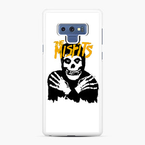The Misfits Skull Yellow Logo Casual Samsung Galaxy Note 9 Case, White Rubber Case | Webluence.com