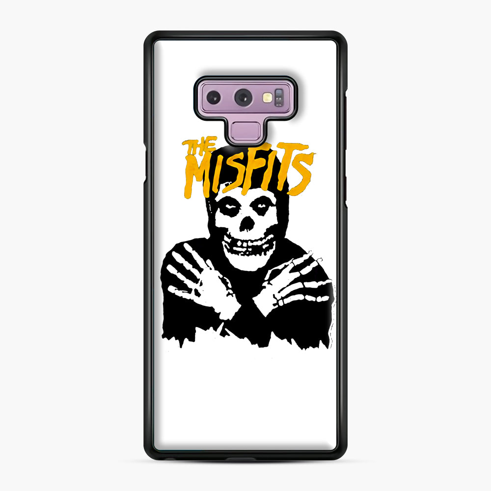 The Misfits Skull Yellow Logo Casual Samsung Galaxy Note 9 Case, Black Plastic Case | Webluence.com